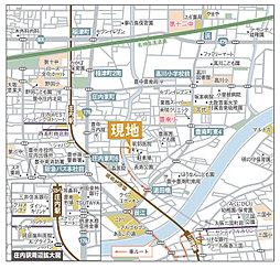 eMIRAIE 阪急三国=リカラタウン=【太陽光発電標準装備のecoハウス】:案内図