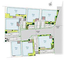 敷地面積120m2中心のゆとりの配棟計画