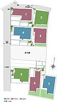 【全体区画図】 明るく開放的な街区プラン。
