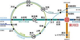 2路線活用で都心へスマートアクセス。
