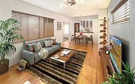 家族との団らんを楽しめる、広々空間の家。