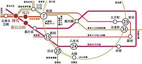 都心直結の3路線が利用可能。