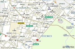 【豊栄建設の分譲地】豊平区福住3条8丁目(土地):交通図