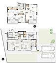 3号棟:敷地面積/ 214.30m2(64.82坪) 建物面積/ 118.17m2(35.67坪)