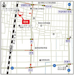 TOSCO 北名古屋市鹿田天王山:交通図