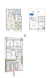 4LDK+SCL+WIC+ロフト+バルコニー+スカイバルコニー+駐車場3台