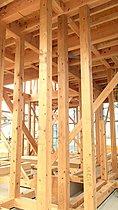 無垢材4寸柱を使用!最高等級の耐震等級3を取得。