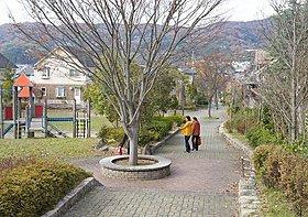 街の中心を走る緑道 何気に四季を感じる事が出来ます
