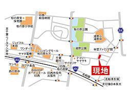 野崎の分譲【COMFORTS印西牧の原2】~子供が安心して暮らせる街~:案内図