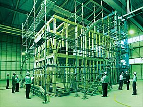 民間では最大規模となる3階建ての実大構造実験装置