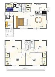 3階建て4LDKの間取りです。 WCLやSCLもあります。 3階居室からすぐに屋上庭園へ