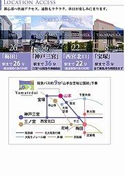 眺望の街・トヨタホーム阪急山手台:交通図