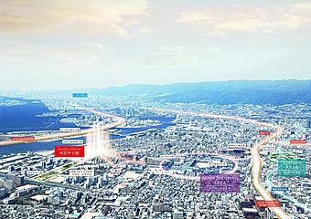 甲子園駅より徒歩17分に誕生する全83区画のビッグシティ計画、いよいよ始動!