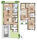 1号地ご提案プラン図です。 敷地面積:90.60m2 建物面積:94.39m2 自由設計にて建築致します。