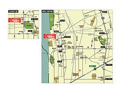 フォレストタウン高石高師浜 【緑豊かなランドプラン】【駅まで徒歩2分】:交通図