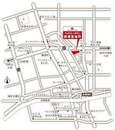 【トヨタの木の家】前橋宮地町:交通図