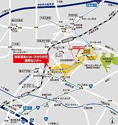 【土地分譲】成田久住 自由が丘:案内図