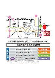 木津中央 城山台 【京都パナホーム】:交通図