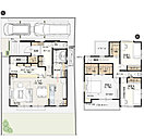 【4号棟】 敷地面積/142.01m2(42.95坪) 建物面積/105.04m2(31.70坪)