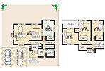 4LDK+S(納戸)、土地面積204.55m2、建物面積104.49m2 間取り図