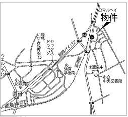 鹿嶋市宮中 新築2棟 1,799万円~ 駐車場4台 :交通図