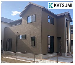 【勝美住宅】姫路市飾磨区中島 充実設備のデザイナーズハウス全3棟の外観
