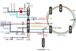 【宅地分譲】DWELL STAGE「Leaf Terrace新吉田東」:交通図