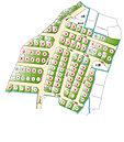 全102区画の大型分譲地。土地の面積を変えられる自由分割区画あり。