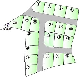 【アズマハウス】ライフフィールド 中央小学校南 全19区画の外観