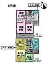 5号棟 各所にたっぷりと収納があり、住空間はスッキリ広々です。