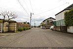 (前面道路含む現地写真)閑静な住宅地でのびのび子育て