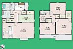 間取り 2階居室は6帖以上のゆとりある住空間♪収納豊富♪ 1号棟