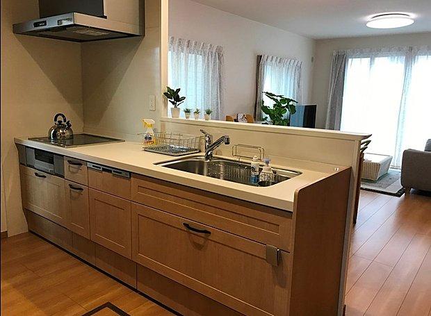 【7号地キッチン】収納たっぷりのキッチンで快適な生活を。