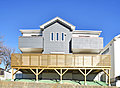 土地面積55坪超。全室南向き×大型ウッドデッキ付×小屋裏収納付。リライフガーデン片倉町。