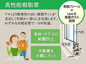 従来のアルミサッシより断熱性が高く、ガラス面と窓枠の結露を防