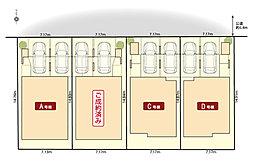 ■区画図■並列2台駐車可能、1台ビルトインガレージ