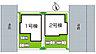 区画図,4SLDK,面積96.05m2(2号地)~97.92m2(1号地),価格2780万円・2880万円,神戸市西神・山手線「名谷」駅 バス6分 徒歩4分,神戸市西神・山手線「妙法寺」駅 徒歩34分,兵庫県神戸市須磨区白川台6丁目