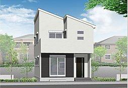 (2号棟)完成予想図 片流れの屋根がモダンな雰囲気を醸し出す住宅です♪