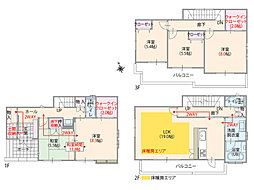 全居室南向き・5LDK・3階建プラン(T-1)