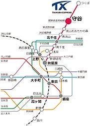 三井の戸建 ファインコート守谷ビスタシティ:交通図