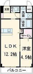 Lumeto 3階1LDKの間取り