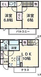 コンソラータ 1階2LDKの間取り