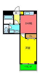 泉北高速鉄道 光明池駅 バス10分 檜尾山下車 徒歩3分の賃貸マンション 2階1DKの間取り