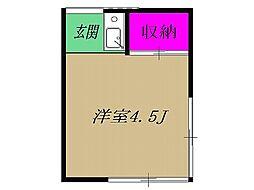 東武東上線 北池袋駅 徒歩4分の賃貸アパート 2階1Kの間取り