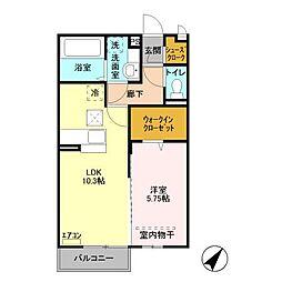 JR総武線 稲毛駅 バス8分 園生台公園入口下車 徒歩3分の賃貸アパート 1階1LDKの間取り