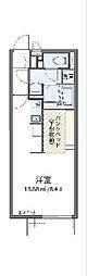 JR東海道本線 三河塩津駅 徒歩14分の賃貸アパート 1階ワンルームの間取り