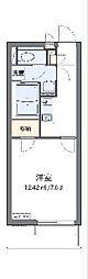 JR内房線 袖ヶ浦駅 バス8分 金田中島東下車 徒歩7分の賃貸マンション 3階1Kの間取り