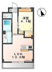 (仮称)桜木新築マンション 2階1LDKの間取り