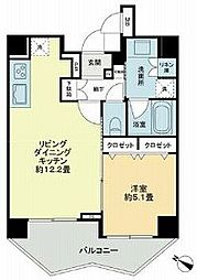 KDA SHINAGAWA OSAKI 9階1LDKの間取り