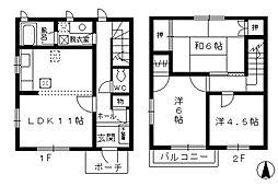 名古屋市営鶴舞線 浄心駅 徒歩10分の賃貸テラスハウス 1階3LDKの間取り